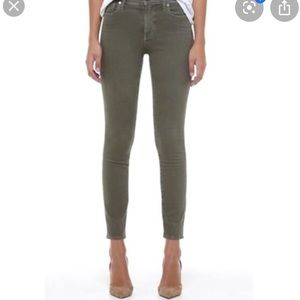 Madewell high rise skinny garment dyed jeans